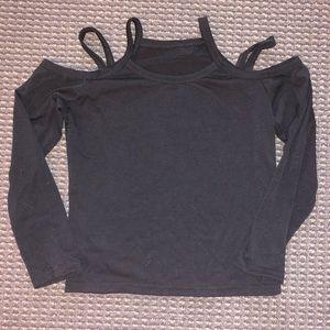 cut-out shoulder sweater